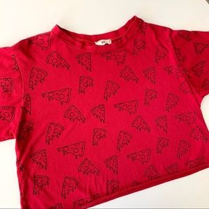 French Pastry Red Pizza Crop Top